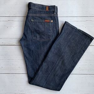 7 For All Mankind Dark Wash Bootcut Jeans